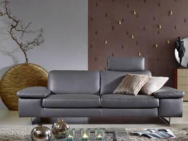 Willi Schillig 2-Sitzer groß AleXx 22850 Sofa groß N90 in Stoff oder Leder ausgestattet mit einer individuell einsetzbaren Steckkopfstütze und glänzenden Metallkufen wählbar ist die Funktion des Seitenteils und die Polsterung zwischen Federkern und Boxspring