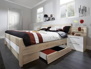 Nolte Möbel Belvento Doppelbett 1 mit Unterbau Verblendung inkl. 2 Schubkästen wahlweise mit Nachtschränken