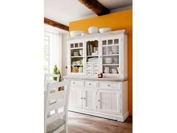 MCA Vitrine Opus FW608T13 Ausführung Recycle Kiefer weiß/ white sanded Massivholz für Wohnzimmer Speisezimmer Furniture