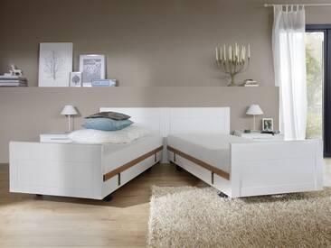Nolte Möbel Belvento Ausschwenkbares Doppelbett Umbau zu 2 Einzelbetten wahlweise mit Nachtschränken