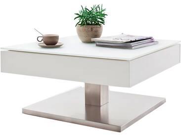 MCA Furniture Couchtisch Mariko 58106WZ4 aus MDF in weiß matt lackiert Sicherheitsglas weiß matt für Ihr Wohnzimmer