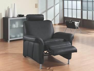 Polinova TV-Sessel Jackson L mit bodenfreier Relaxfunktion manuelle Fußklappenverlängerung und höhenverstellbarer Kopfstütze  in Echtleder Ausführung wählbar
