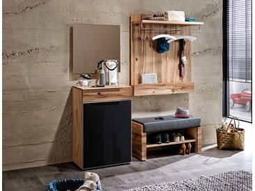 Voglauer Dielenmöbel V Alpin Vorschlag 21 mit Spiegel Kommode Garderobenbank und Garderobenpaneel Garderobenmöbel mit oder ohne Beleuchtung wählbar
