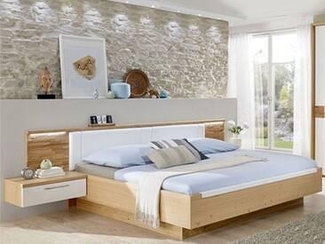 Disselkamp Bett mit überstehendem Kopfteil Spaltholzeinlage schwebendes Liegenkopfteil Liegefläche wählbar