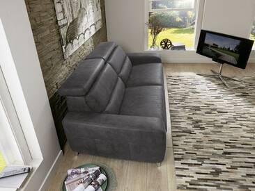 Zehdenick 2-Sitzer Sofa Regis mit Kopfpolsterverstellung und motorischer WallAway Funktion am linken Sitz Bezug und Fußausführung wählbar