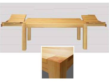 Dkk Klose Kollektion Große Klappe T6/S teilmassiver Vierfußtisch mit stirnseitigen Klappeinlagen Esstisch für Speisezimmer ausziehbar Ausführung wählbar
