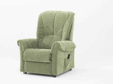 Hukla Relaxsessel RX34 mit motorischer Verstellung im lindgrünen Stoffbezug