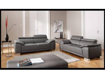 Candy Amalfi Garnitur 2-Sitzer und 3-Sitzer Stoff oder Echtleder wählbar