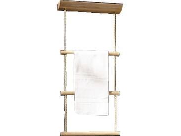Voglauer V-Quell Badezimmer-Einrichtung Hantuchhalter mit 3 Sprossen in der Ausführung Alteiche rustiko echtholzfurniert