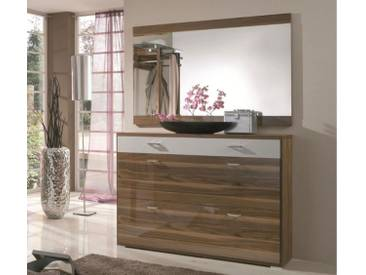 Wittenbreder Woody plus Schuhschrank 116 für Flur und Garderobe mit oder ohne Spiegel; Schrank Flurschrank Furnier Lack Ausführung wählbar