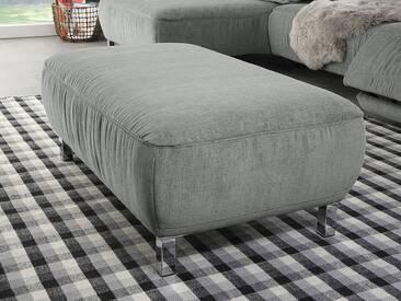 Candy Hockerbank Anderson ca. 110x65 cm im Bezug Cosmopolitan light grey PG 10 mit Metallfüßen chrombeschichtet