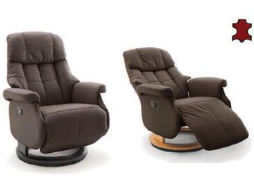 MCA furniture Calgary Relaxsessel L Comfort 64032 Relaxer aus Leder/PVC braun Gestell und Drehteller aus Formholz