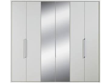 Nolte Horizont 7000 Falttüren-Kleiderschrank 6-türig Korpus in Dekor und Front in Dekor oder Dekor Hochglanz mit mittigem Spiegelelement