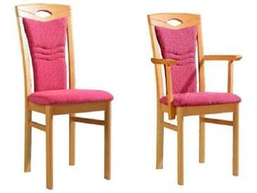 Dkk Klose Kollektion Cristal Stuhlsystem Polsterstuhl mit seitlich offenem Rückenpolster für Speisezimmer Esszimmerstuhl Ausführung Sitzkomfort Bezug und Holzausführung wählbar
