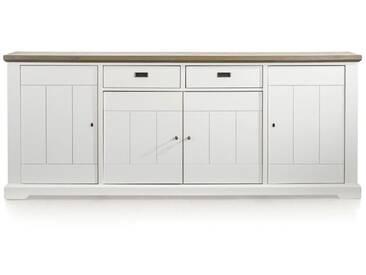 Habufa Mallorca Sideboard mit vier Türen zwei wendbare Schubladen für Ihr Wohnzimmer oder Esszimmer