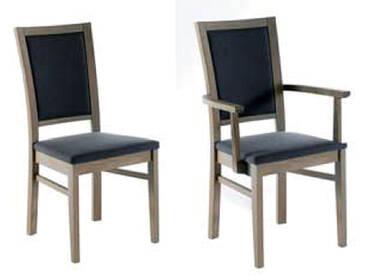 Dkk Klose Kollektion 4-friends Stuhlsystem Polsterstuhl mit geschlossenem Rückenpolster Stuhl für Speisezimmer Esszimmerstuhl Ausführung Sitzkomfort Bezug und Holzausführung wählbar