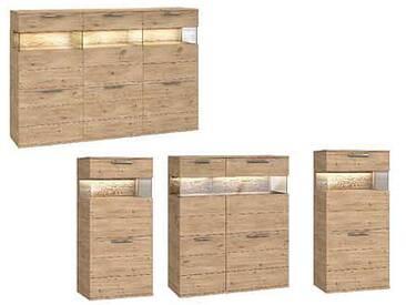 Dkk Klose Kollektion K20 Kastenmöbel Highboard Schrank geölt oder mit Wachseffektlack Kommode für Wohnzimmer oder Esszimmer mit Glastüren Anrichte Größe Ausführung und Zubehör wählbar