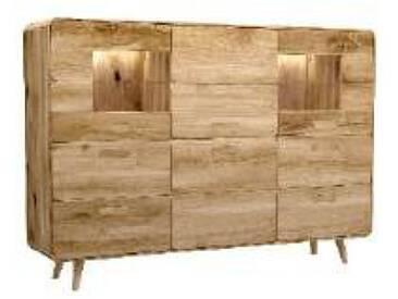 Dkk Klose Kollektion K34 Kastenmöbel Highboard 3tlg. Kommode 342604 für Wohnzimmer oder Esszimmer Beleuchtung und Ausführung wählbar