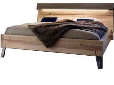 Thielemeyer Cubo Komfort-Liegenbett in Front- und Korpusausführung Wildesche Massivholz mit Holzkopfteil und Loden-Nackenrolle optional mit Hochschrank oder Hängeschrank