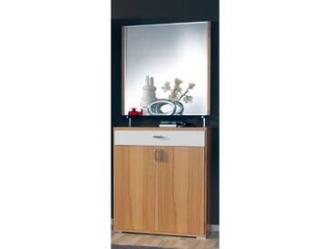 Wittenbreder Woody plus Kommode 102 für Flur und Garderobe mit oder ohne Spiegel Glasablage; Schrank Flurschrank Furnier Lack Ausführung wählbar