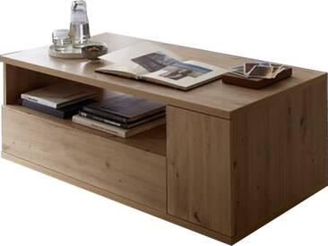 Wohn-Concept Bajazzo Two Couchtisch 20 96 HH 02 moderner Wohnzimmertisch ca. 120 x 65 cm für Ihr Wohnzimmer mit einem offenen Fach einem Schubkasten und zwei Türen in Artisan Eiche Nachbildung
