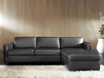 Candy All Round Schlafsofa ideal für Ferienwohnung Polstergarnitur Eckgarnitur Couch für Wohnzimmer Ecksofa mit Longchair Sofa in Bezug Stoff oder Leder wählbar