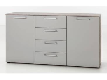 Nolte Möbel Novara Kommode 2-türig mit 4 Schubkästen mittig Schubkastenhöhe ca. 19 cm
