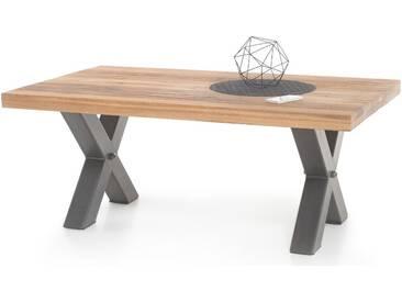 MCA furniture Couchtisch Andro 58830EIW aus Massivholz Deckplatte Wildeiche massiv geölt für Ihr Wohnzimmer