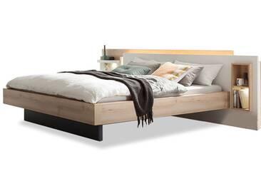 Nolte Möbel Lanova Doppelbett 1 mit Asymetrischer Kopfteiloptik Nischenregal links oder rechts sowie Liegefläche wählbar