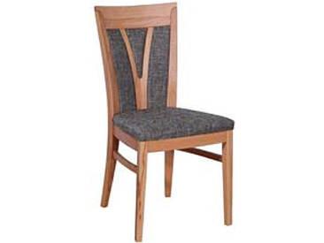 Dkk Klose Kollektion Polsterstuhl S11 für Küche Wohnzimmer oder Esszimmer gepolsterter Rücken mit Mittelsprossen zahlreiche Holzausführungen und Bezugsvarianten wählbar