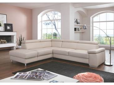 Polinova Ecksofa Calisto L 2,5-Sitzer 1,5-Sitzer Kombielement inklusive Rückenverstellung in Echtleder Couch spiegelverkehrt lieferbar Ausführung wählbar