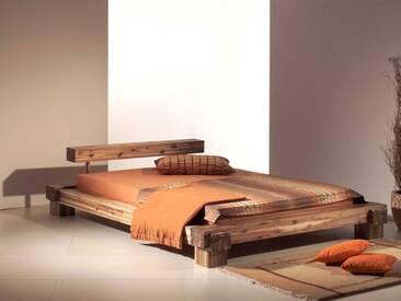 Bett Cali mit Kopfteil Doppelbett Akazie massiv 180x200cm mit 2x Nachtkonsole Massivholzbett komplett von Neue Modular Bettgestell und Nakos ***AM LAGER***