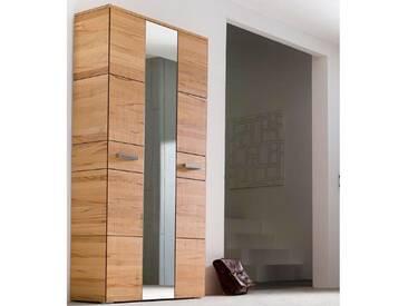 Wittenbreder Massello 510 Kompakt Garderobe für Flur und Garderobe Schrank in Kernbuche teilmassiv Glatt und Sägerauh