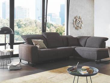 Candy Couchgarnitur Empire mit Metallkufe schwarz in Stoff oder Echtleder Ausführung wählbar