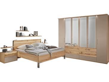 Disselkamp Cadiz Schlafzimmer Doppelbett Nachtkonsolen Wandsteckboards Drehtürenkleiderschrank Wandboards wählbar
