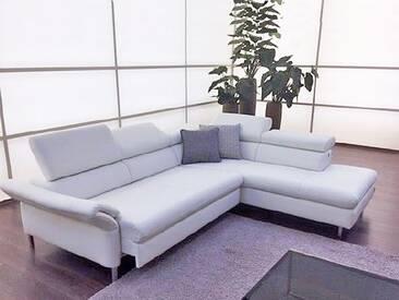 Willi Schillig Ledercouch Amy 20960 bestehend aus Sofa und Ecksofa manuelle Kopf- und Seitenteilverstellung sowie ein motorischer Sitzauszug mit chromglänzenden Vierkantfüßen in Stoff oder Leder