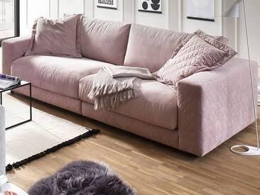 Candy Bigsofa High End 1-Sitzer Armlehne links und 1-Sitzer Armlehne rechts im Bezugsmix Matrix Raute rosa und Matrix rosa Rücken echt bezogen auf Gleitern