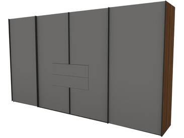 Nolte Marcato 2.1 Schwebetüren-Panoramaschrank 4-türig Ausführung 1 ohne Sprossen mit Synchronbeschlag und 2 Schubkästen Schrankgröße und Farbausführung frei konfigurierbar
