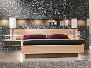 Thielemeyer Mira Multi 4 Bett in der Korpusausführung Strukturesche oder Naturbuche oder Wildeiche Massivholz Liegenbett mit Kastenbett-Fußteil und Hängekonsolen