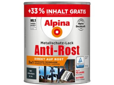 Alpina-Metallschutzlack anthrazit-matt 1 Liter