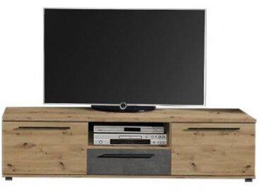 TV-Lowboard Allister Artisan-Eiche-Nachbildung/Beton-Optik dunkel
