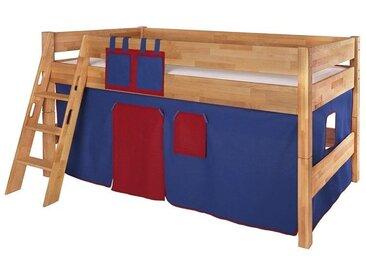 Betttaschen für Spiel- und Hochbett, rot-dunkelblau