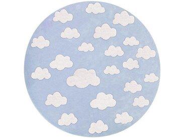 """Kinderteppich rund """"Wolken blau"""""""