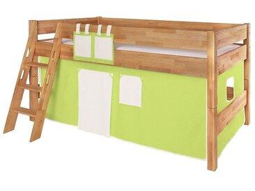 Betttaschen für Spiel- und Hochbett, hellgrün-weiß