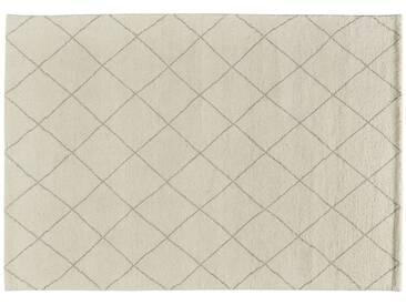 Berber-Teppich  Marrakesh Design simple ¦ weiß ¦ reine Wolle ¦ Maße (cm): B: 170 » Höffner
