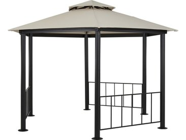 Pavillon  Verona ¦ schwarz ¦ Stahl pulverbeschichtet ¦ Maße (cm): H: 265 Ø: [350.0] » Höffner
