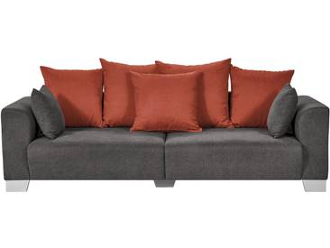 Smart Big Sofa Grau Braun   Flachgewebe Tonja ¦ Grau ¦ Maße (cm)