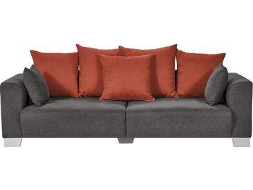smart Big Sofa grau-braun - Flachgewebe Tonja ¦ grau ¦ Maße (cm): B: 244 H: 68 T: 107 » Höffner