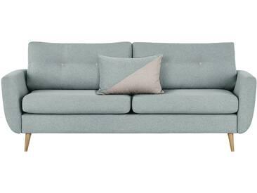 finya Retro-Sofa 3-sitzig mintgrün - Webstoff Harris ¦ blau ¦ Maße (cm): B: 207 H: 85 T: 92 » Höffner