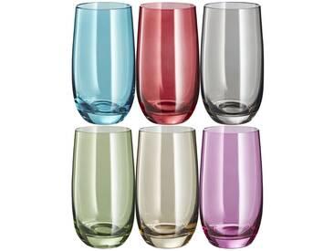 LEONARDO Gläser groß, 6er-Set  Sora ¦ mehrfarbig ¦ Glas ¦ Maße (cm): B: 23,4 H: 14 T: 15,6 » Höffner